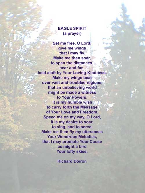 Eagle Spirit - A Spirituality Poem by Richard Doiron